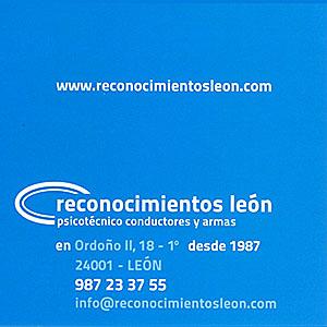 Logotipo Reconocimientos León
