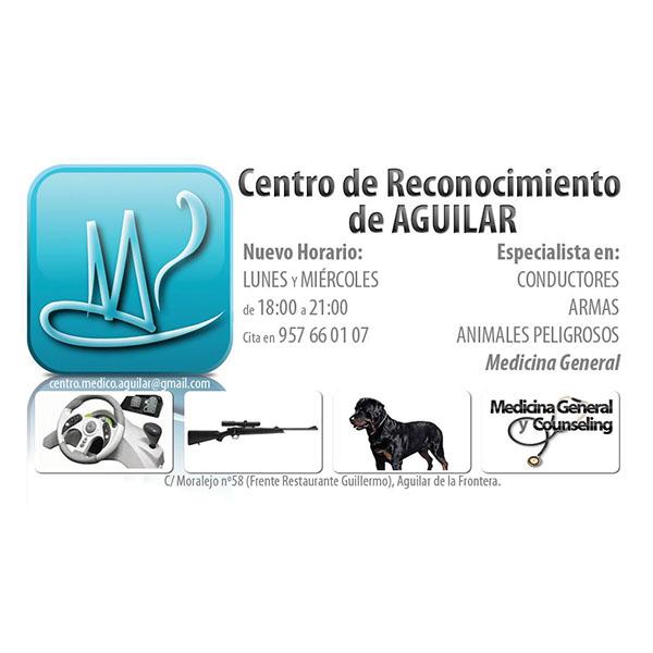 Logotipo Centro de Reconocimiento de Conductores de Aguilar