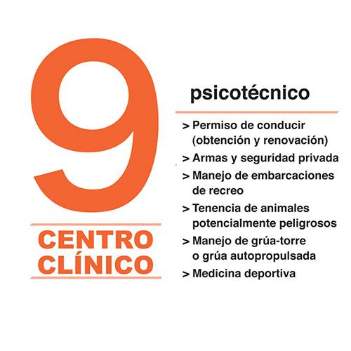 Logotipo Centro Clínico 9