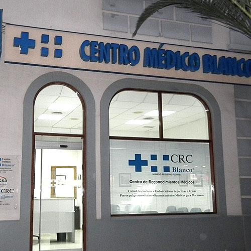 Logotipo Centro de Reconocimiento de Conductores Blanco