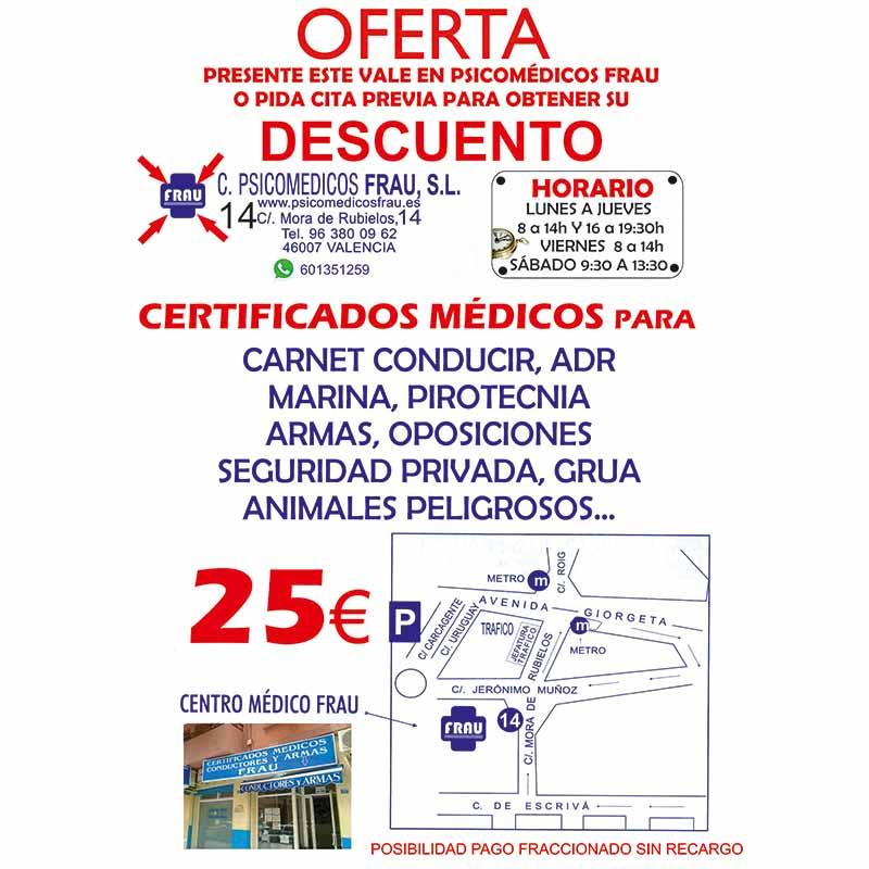 Logotipo Certificados Psicomédicos FRAU S.L.