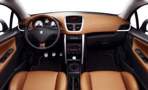 Interior del Peugeot 207